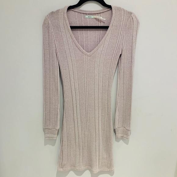 Kimchi Blue | Light Pink Long Sleeve Sweater Dress